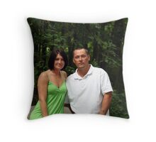 Tim & Amber Throw Pillow