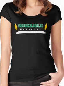 Hardcore Workaholic Women's Fitted Scoop T-Shirt