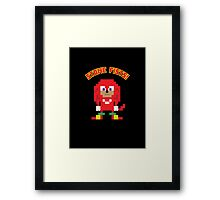 8Bit Knuckles Framed Print