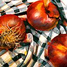 Black and White and Red Onions by  Janis Zroback