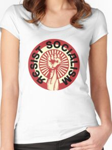 RESIST SOCIALISM Women's Fitted Scoop T-Shirt