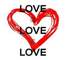 Love Is Love Is Love (Black) Photographic Print