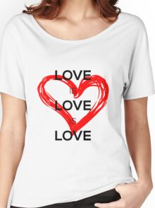 Love Is Love Is Love (Black) Women's Relaxed Fit T-Shirt