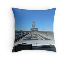 'Over the Bridge'  Pacific Hghwy. East Coast, N.S.W. Throw Pillow