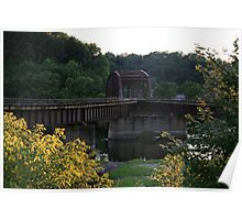The Iron Bridge At Siverly Poster