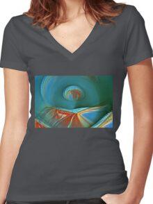 Desert Patina Women's Fitted V-Neck T-Shirt