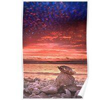 Clamshell sunset, Quobba, Western Australia Poster