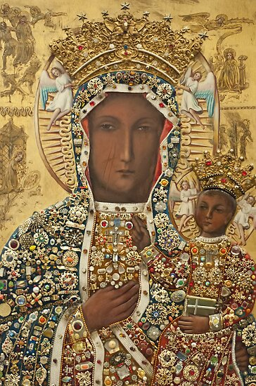 Our Lady of Czestochowa Bejeweled Picture by blessedartthou