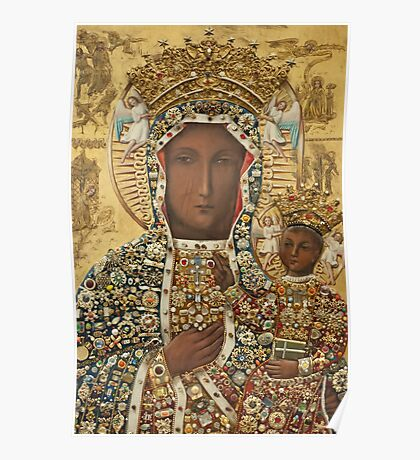 Our Lady of Czestochowa Bejeweled Picture Poster