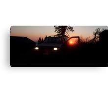 Red Sunset SUV Canvas Print