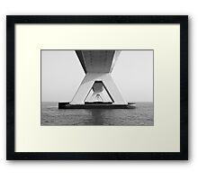 Zeeland Bridge, The Netherlands Framed Print