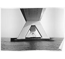 Zeeland Bridge, The Netherlands Poster