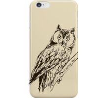 Owl hand drawn iPhone Case/Skin