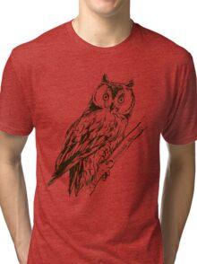 Owl hand drawn Tri-blend T-Shirt