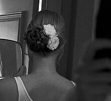 Bride's Hair on her Wedding Day by thebaum