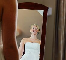 A Reflection of the Bride on Her Wedding Day by thebaum