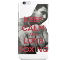 Keep Calm and Love Boxing iPhone Case/Skin