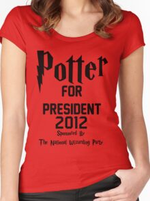 Potter for President 2012 Sponsored by The National Wizarding Party Women's Fitted Scoop T-Shirt