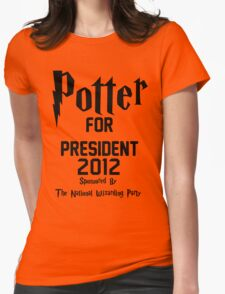 Potter for President 2012 Sponsored by The National Wizarding Party Womens Fitted T-Shirt