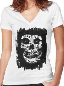 Die, Die Misfits inspired tee #2 Women's Fitted V-Neck T-Shirt