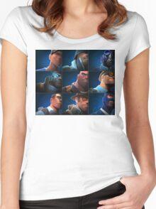 TF2 - Blu/Blue Team Women's Fitted Scoop T-Shirt