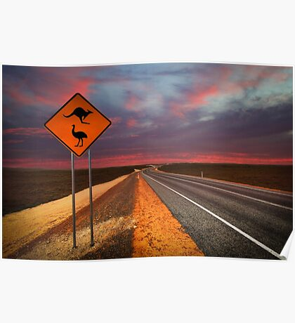 Coat of arms drive, outback Western Australia  Poster