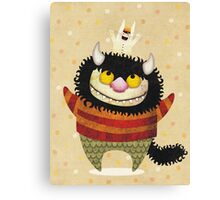 Friendship Monster Canvas Print