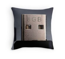 Pen Drive Macro Throw Pillow