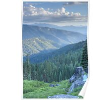 Russian Wilderness Valley at Sunset Poster