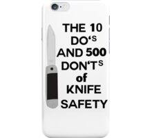 do's and dont's iPhone Case/Skin