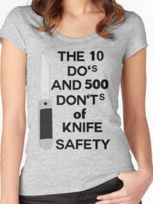 do's and dont's Women's Fitted Scoop T-Shirt