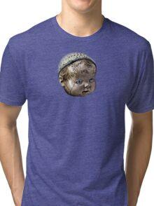 Creepy Doll Head Tri-blend T-Shirt