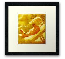 Sunbathing Beauty Framed Print
