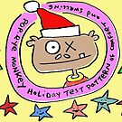 Monkey Holiday Test Pattern of Christmas HooHa by Ollie Brock