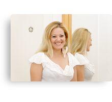 Woman in Mirror II Canvas Print