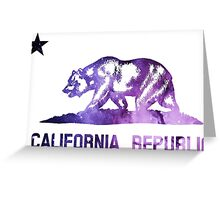 Purple California Bear Flag Nebula Greeting Card