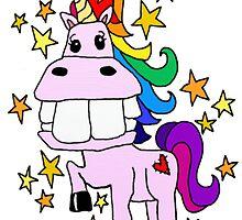 Magical Rainbow Unicorn by JenHeathHenry