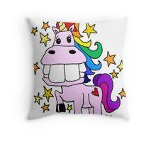 Magical Rainbow Unicorn Throw Pillow