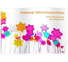 Pop Art Star white Background 2 (Deutsch) Poster