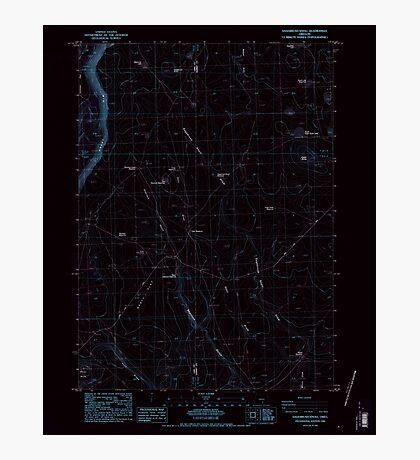USGS Topo Map Oregon Sagebrush Knoll 281358 1984 24000 Inverted Photographic Print