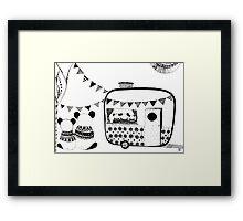 Camping Pandas  Framed Print