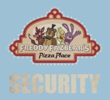 Five Nights at Freddy's - FNAF - Freddy Fazbear's Security Logo Baby Tee