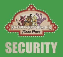 Five Nights at Freddy's - FNAF - Freddy Fazbear's Security Logo One Piece - Short Sleeve