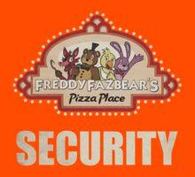 Five Nights at Freddy's - FNAF - Freddy Fazbear's Security Logo Kids Tee