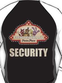 Five Nights at Freddy's - FNAF - Freddy Fazbear's Security Logo T-Shirt