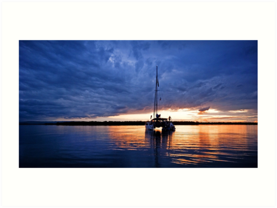 As the Sun Sinks Slowly into the West - South Stradbroke Island by Beth  Wode