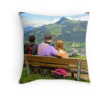 Sitting here waiting Throw Pillow