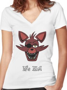 Five Nights at Freddy's - FNAF - Foxy - It's Me! Women's Fitted V-Neck T-Shirt