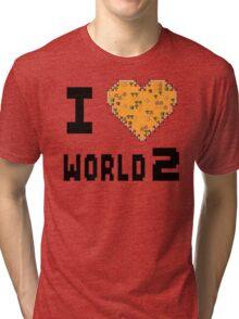 I Heart World 2 Tri-blend T-Shirt