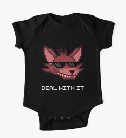Five Nights at Freddy's - FNAF - Foxy - Deal With It (White Font) One Piece - Short Sleeve